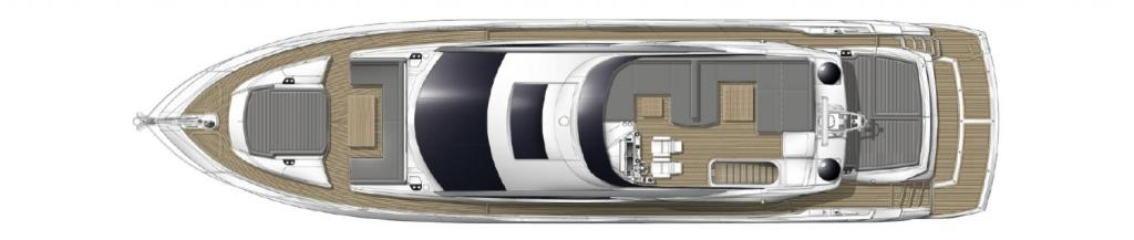 Layout Sunseeker Sport Yacht 74