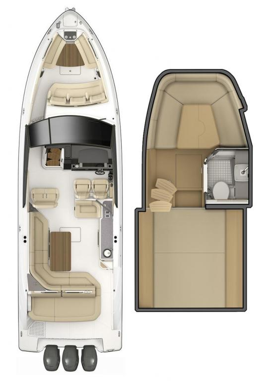 Layout Sea Ray Sport Boat 400 SLX OB