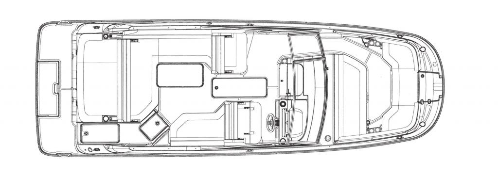 Layout Sea Ray Sport Boat 250 SDX