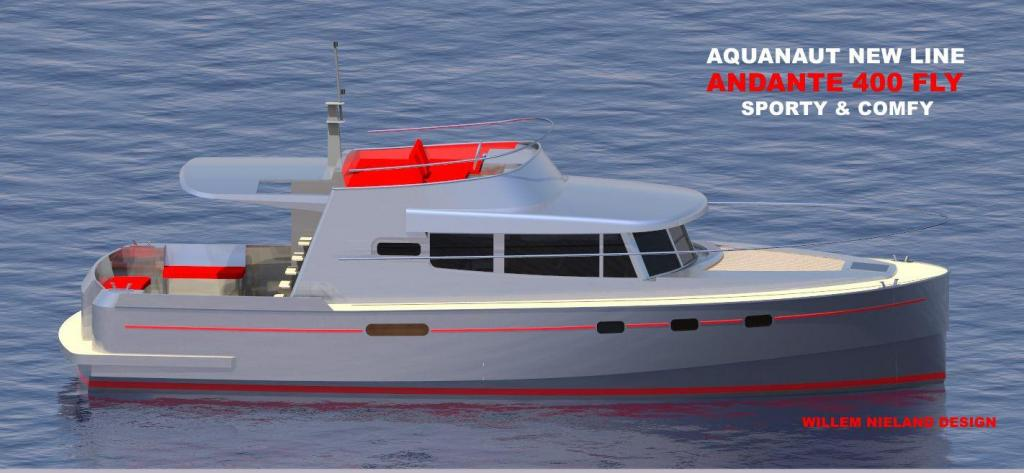 Exterior Aquanaut Andante 400 Fly New Boat