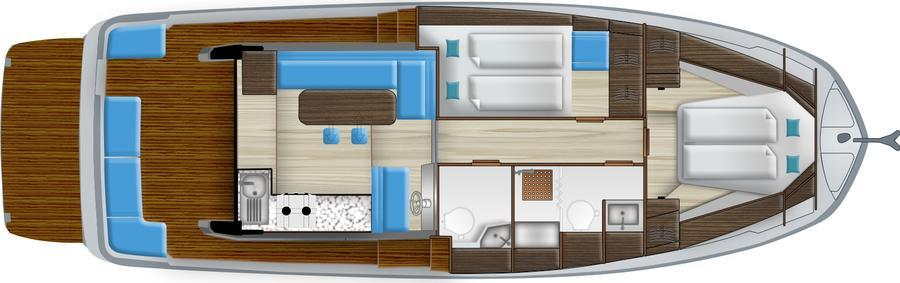 Layout Delphia E BluEscape 1200 Fly