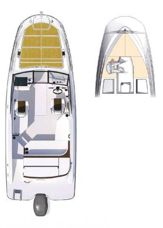 Layout Sea Ray Sunsport 230 OB