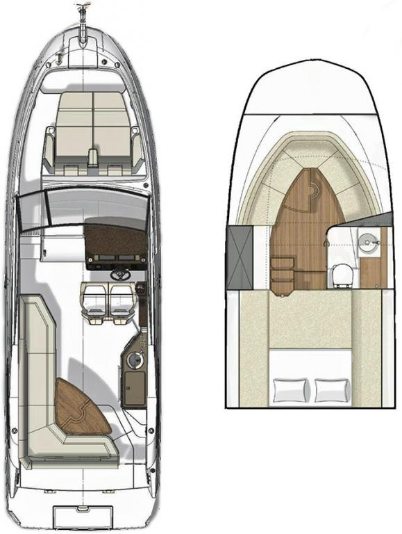 Layout Sea Ray Sport Cruiser 290 Sundancer