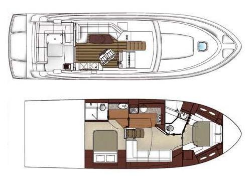 Layout Sea Ray Sport Yacht 510 Sundancer Signature