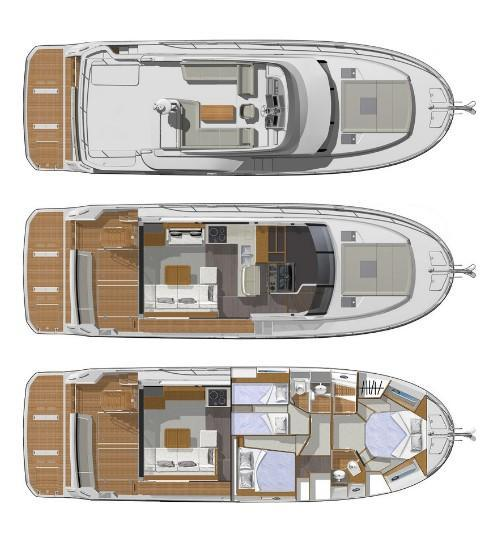 Layout Bnteau Swift Trawler 47