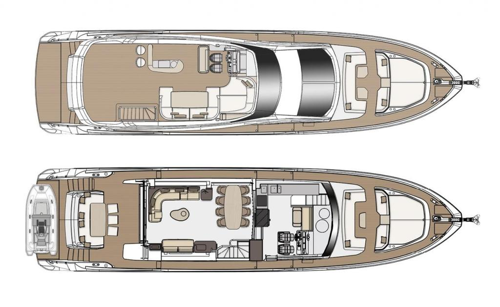 Layout Azimut Flybridge 78