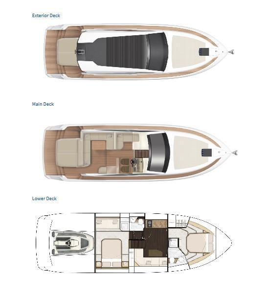 Layout Fairline Targa 45 Open