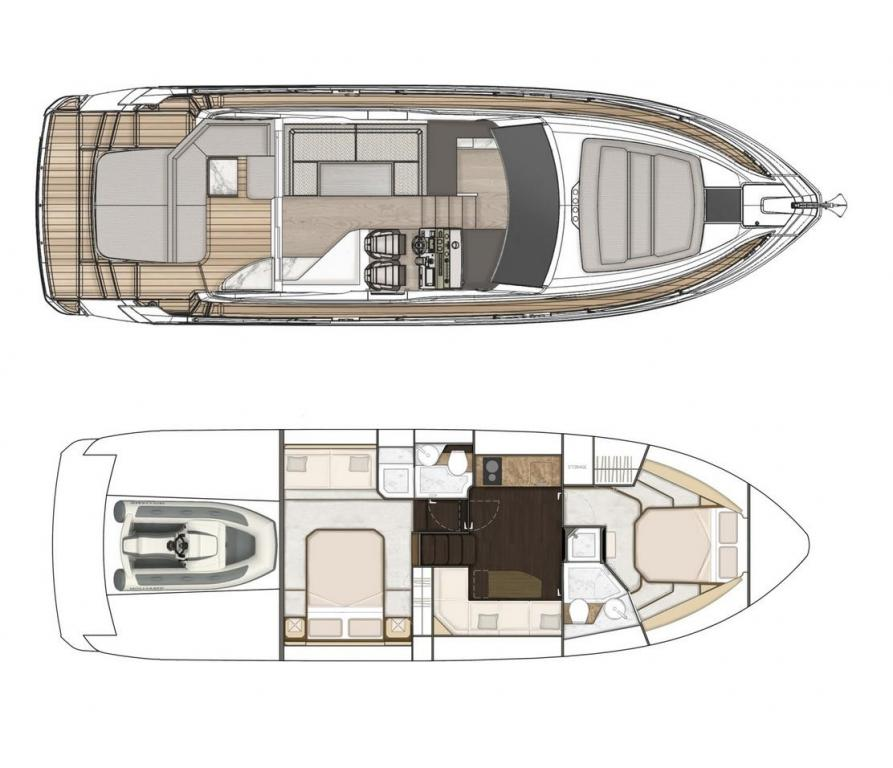 Layout Fairline Targa 45 GT
