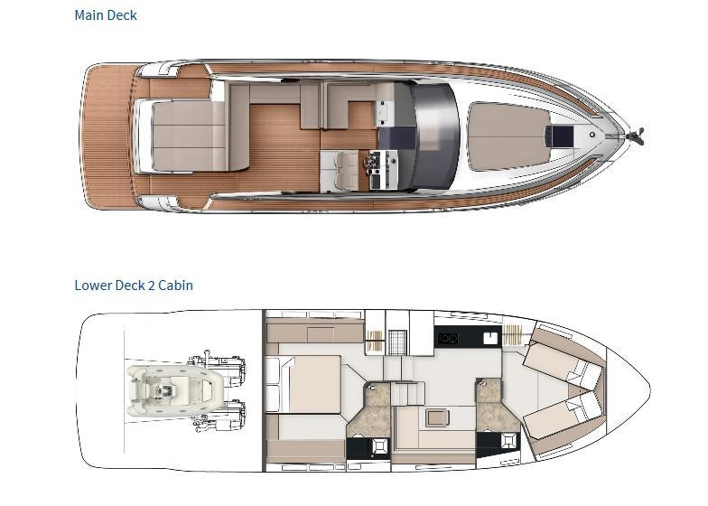 Layout Fairline Targa 50 Open