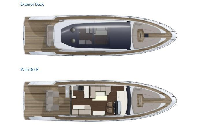 Layout Fairline Targa 58 GTB