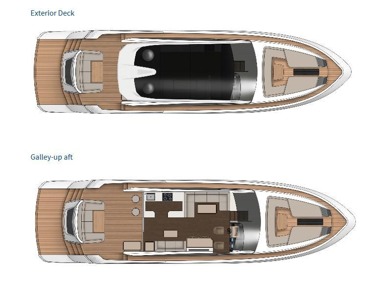 Layout Fairline Targa 65 GT