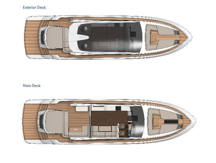 Layout Fairline Targa 65 GTO