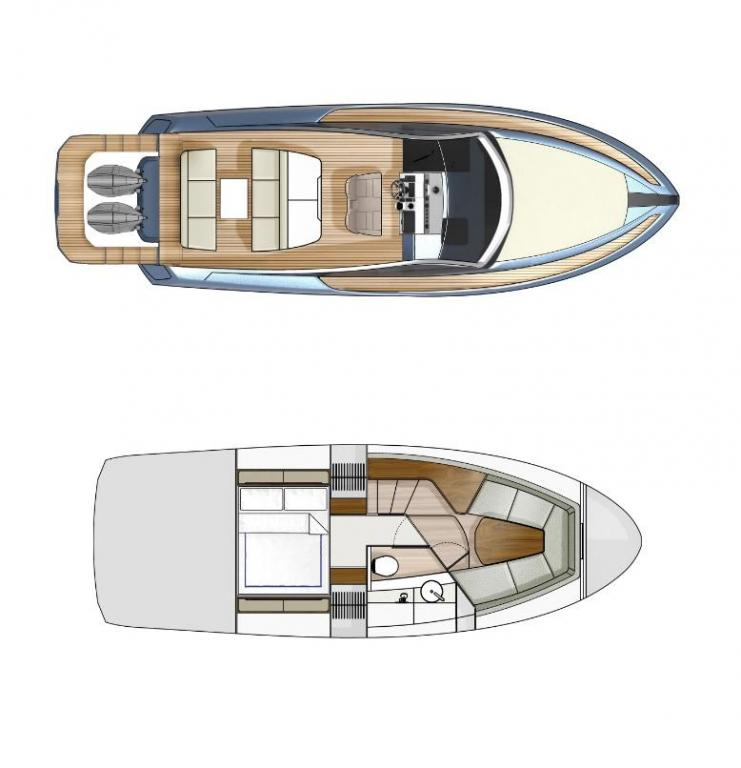 Layout Fairline Fairline 33 Outboard