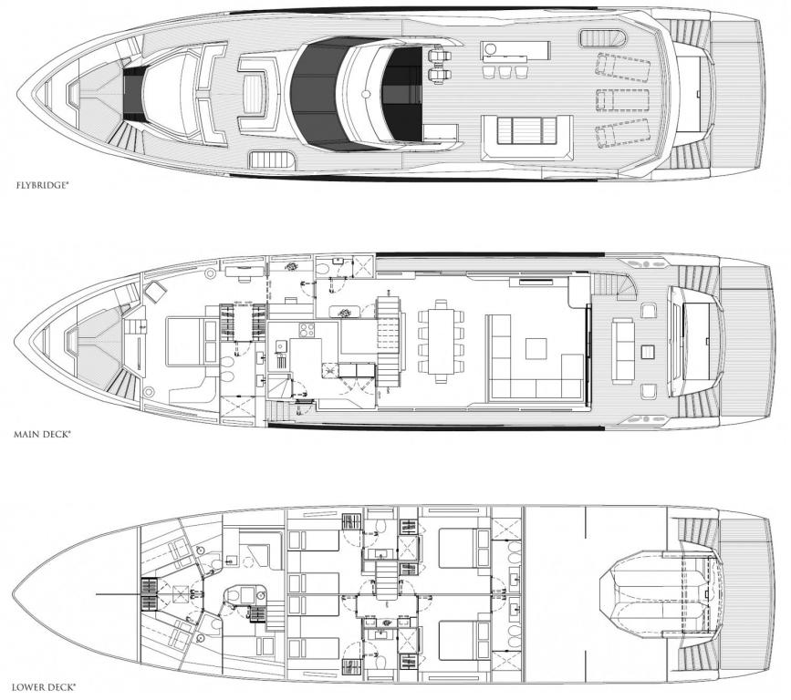 Layout Sunseeker Yacht 100