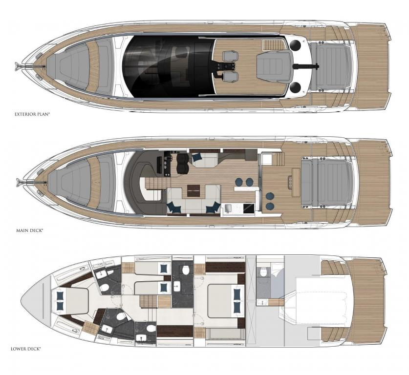 Layout Sunseeker Sport Yacht 65