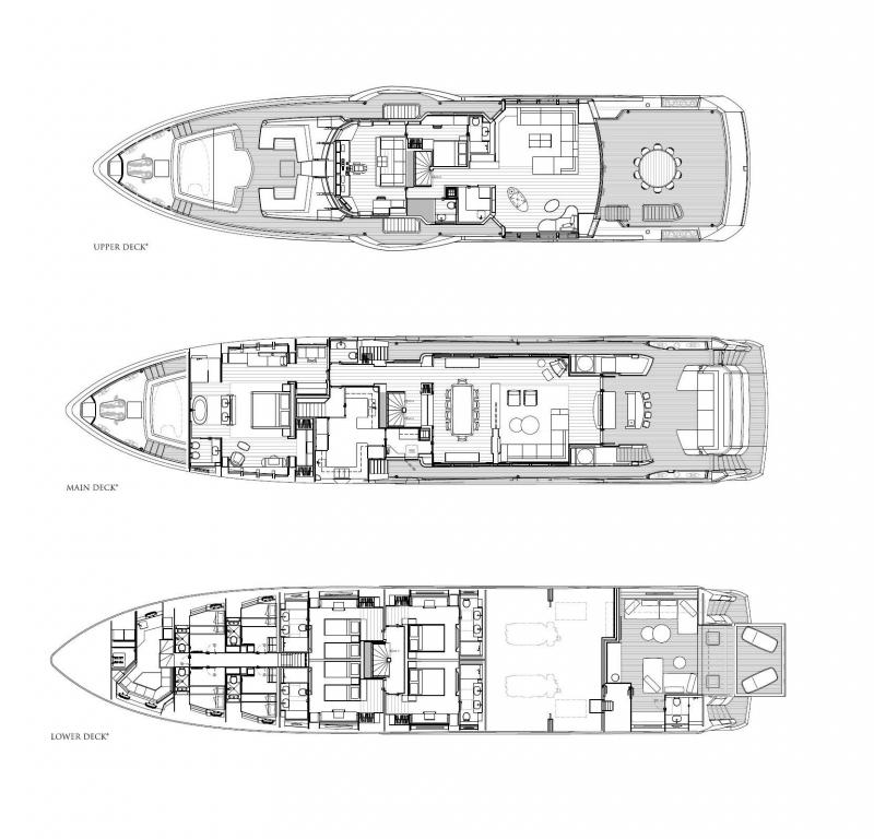 Layout Sunseeker Ocean Club 42