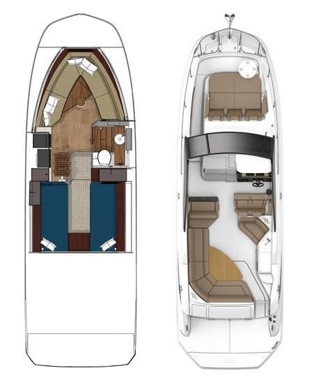 Layout Sea Ray Sport Cruiser 320 Sundancer Coupe
