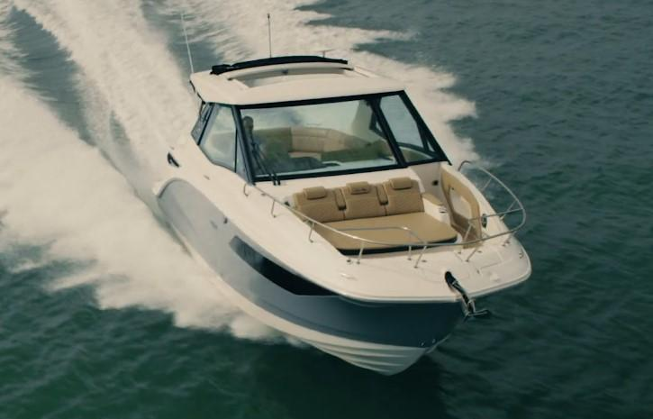 Aussenansicht Sea Ray Sport Cruiser 320 Sundancer Coupe OB Neuboot