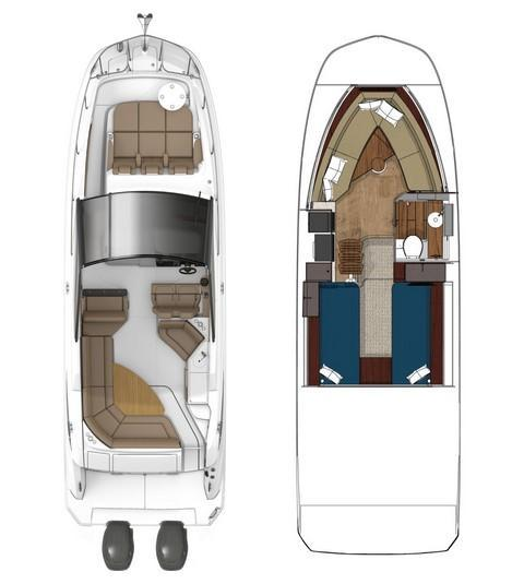 Layout Sea Ray Sport Cruiser 320 Sundancer Coupe OB