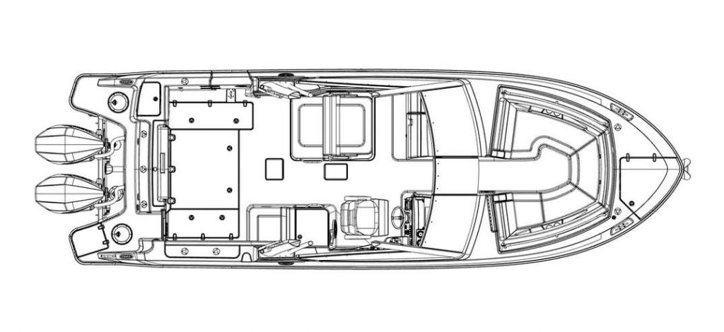 Layout Boston Whaler 280 Vantage