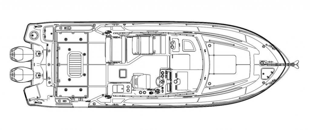 Layout Boston Whaler 325 Conquest