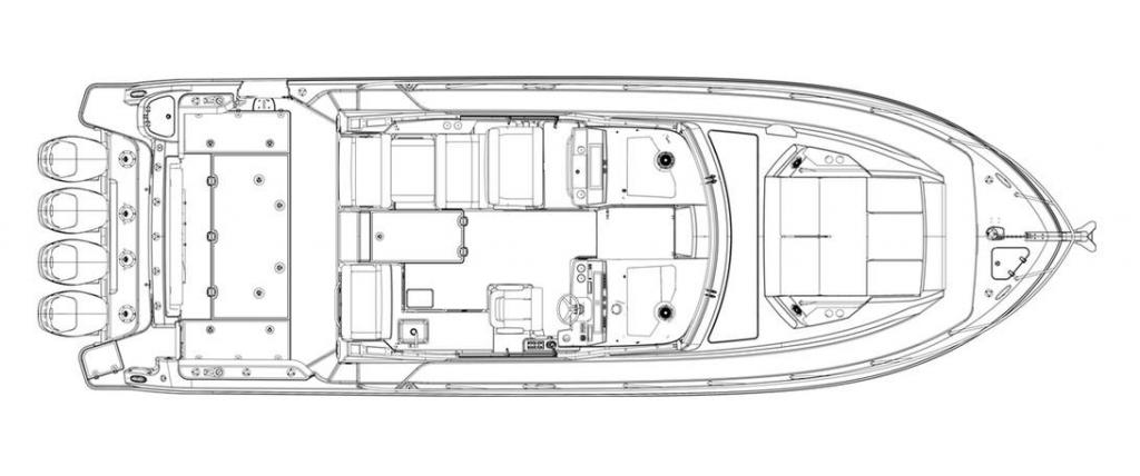 Layout Boston Whaler 405 Conquest