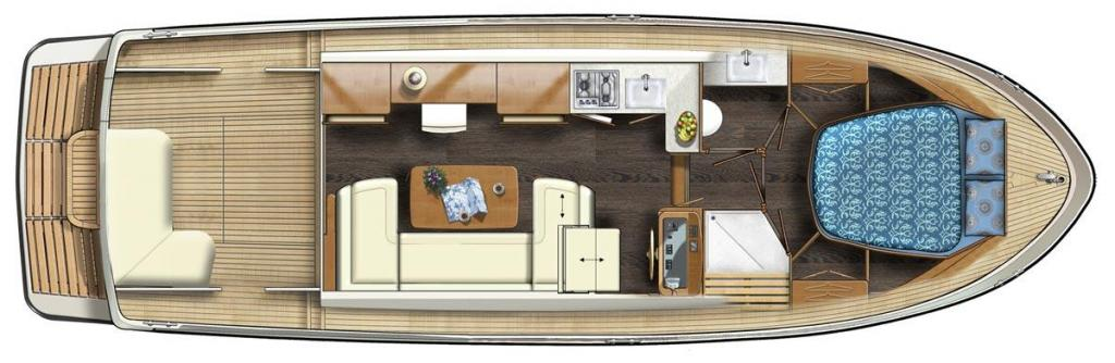 Layout Linssen Linssen 35 SL Sedan