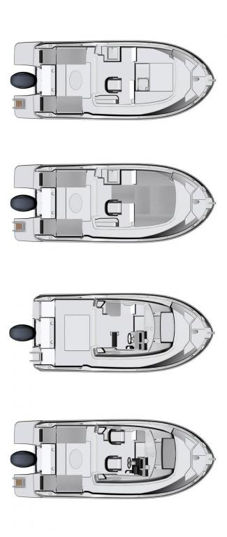 Layout Jeanneau Merry Fisher 605 Marlin