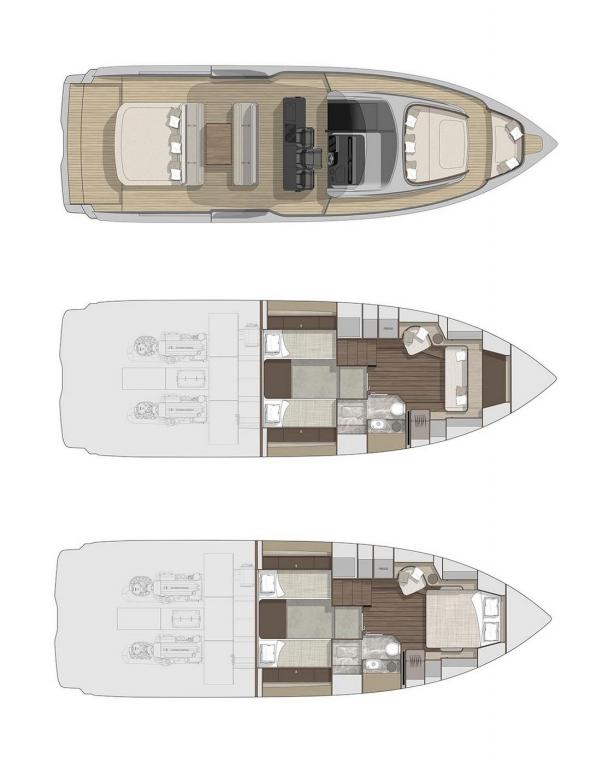 Layout Cranchi A46 Luxury Tender