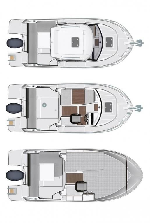 Layout Jeanneau MERRY FISHER 605 S2