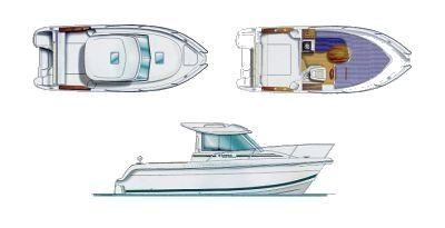 Layout Jeanneau Merry Fisher 625 HB