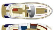 Interiors & cabin layout Chris Craft Corsair 36 (Layout)