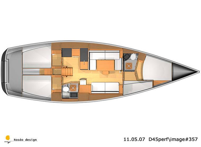 Layout Dufour 45E Performance