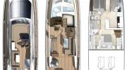 Interiors & cabin layout Cranchi Flybridge Sixty6 Fly (Layout)