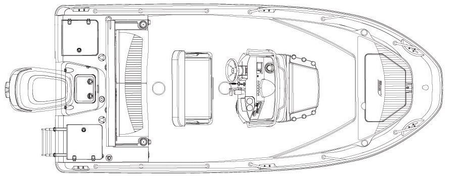 Layout Boston Whaler 180 Dauntless