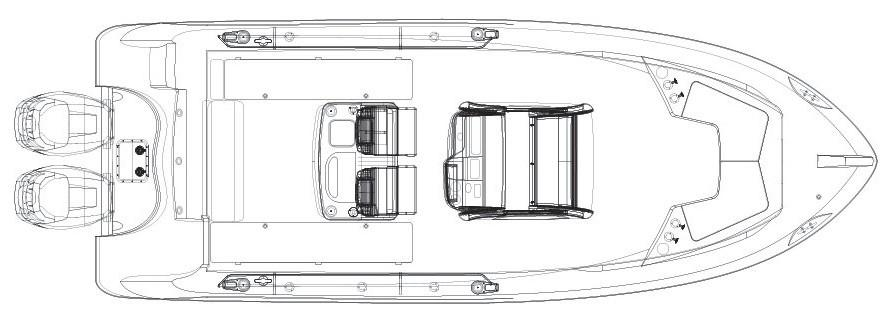 Layout Boston Whaler 250 Outrage