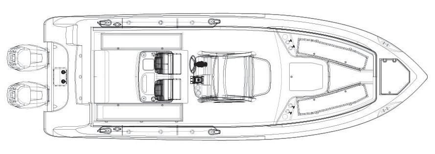 Layout Boston Whaler 280 Outrage