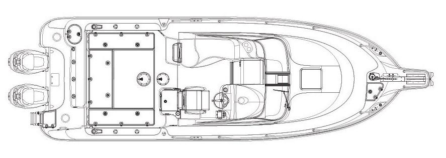 Layout Boston Whaler 285 Conquest