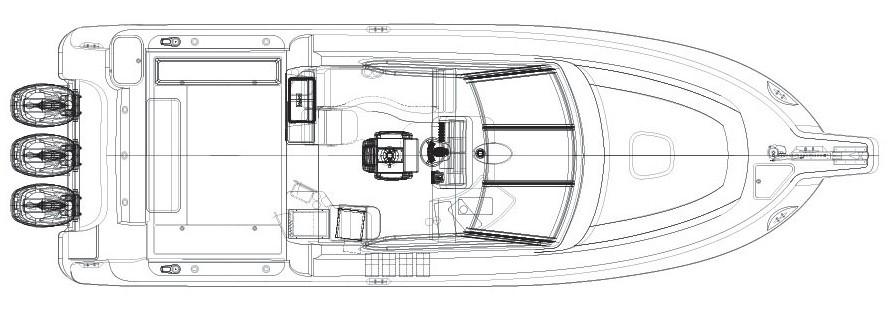 Layout Boston Whaler 345 Conquest