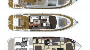 Interiors & cabin layout Cranchi Fifty8 Fly (Layout)