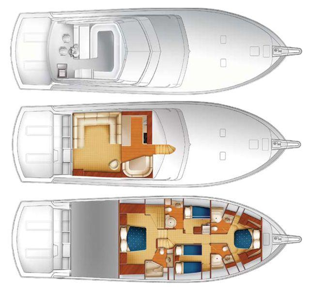 Layout Hatteras Convertible 68 C