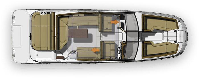 Layout Sea Ray Sport Boat 270 SDX