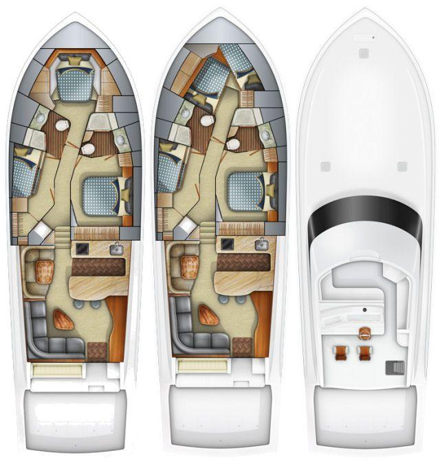 Layout Viking Yachts Convertible 57