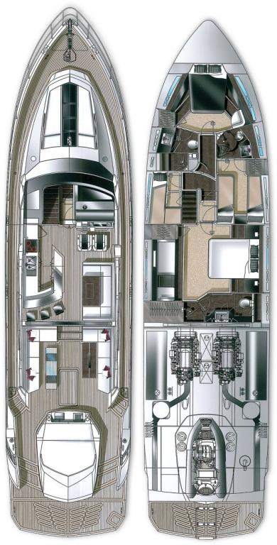Layout Galeon 700 Skydeck