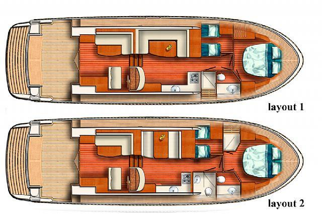Layout Linssen Cruiser 450 SedanVariotop