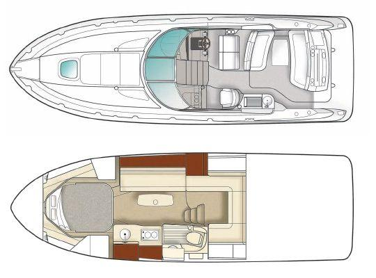Layout Sea Ray Sport Cruiser 350Sundancer